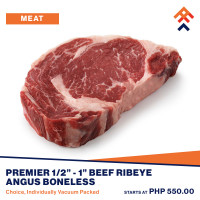 Premier Beef Ribeye Angus Boneless (Choice)
