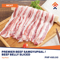 Premier Beef Samgyupsal / Beef Belly Sliced