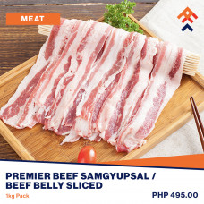 Premier Beef Samgyupsal / Beef Belly Sliced