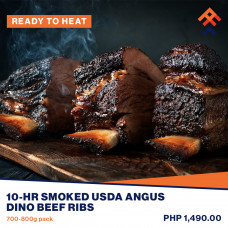 10-Hr Smoked USDA Angus Dino Beef Ribs (Ready To Heat)