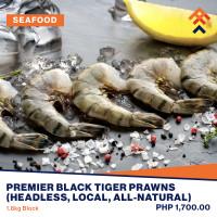 Premier Black Tiger Prawns Headless (Local, All-natural)